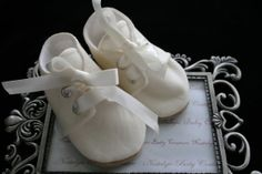IVORY Cotton Baby Boy Shoes Kona Cotton by NostalgicBabyCouture, $19.99   -- Pinned by WhatnotGems.Etsy.com