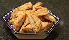 This is from Rachel's Kitchen:  Feta-Cheddar Cheese Bourekas