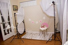 Photography at Our Country Home: Studio is set for a Valentines Day shoot