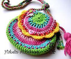 Rainbow collection crochet bag / purse
