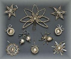 TOP Konvolut 1 + 9 St Gablonz SILBER Christbaumspitze + CBS 1960 Glas / Plast | eBay