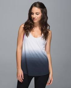 b14b79e4256f6 Lululemon Om Racerback in heathered white black When we re heading to the  studio