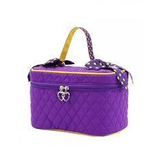 Purple Cosmetic Bags Bag Gold