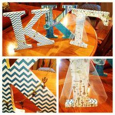 Kappa Kappa Gamma Wooden Greek letters