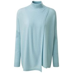 BuyPure Collection Hambleton Wrap Front Cashmere Poncho, Duck Egg, 8 Online at johnlewis.com