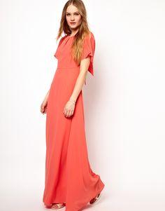 Jarlo | Jarlo Embellished Shoulder Empire Maxi Dress at ASOS