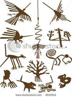 Illustration about Nazca Lines, definitive representation of geoglyphs, vector illustration. Illustration of lines, condor, nazca - 3068712 Nazca Lines Peru, Nazca Peru, Ancient Aliens, Ancient Art, Ancient History, Arte Tribal, Tribal Art, Peru Tattoo, Motif Arabesque