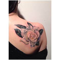 .Amanda Wachob magnolia tattoo. Really admire her work, just looking around for a style that will work for me!