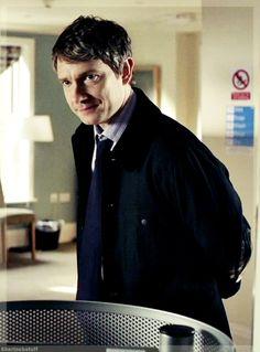 John Watson looking insanely attractive in this shot. Sherlock Fandom, Sherlock John, Sherlock Holmes, Una Stubbs, Amanda Abbington, Louise Brealey, Greatest Villains, Pregnant Wife, Steven Moffat