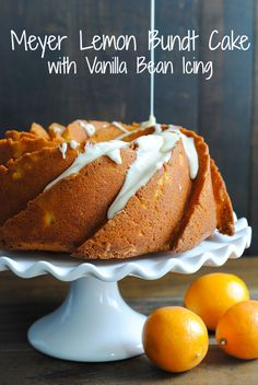 Meyer Lemon Bundt Cake with Vanilla Bean Icing | foxeslovelemons.com