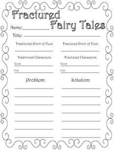 Fairy Tale Vs Fractured Fairy Tale Unit Freebie Teacher To Do