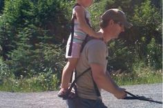 Cool way to carry your kid!