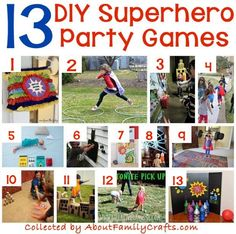 70+ DIY Superhero Party Ideas – About Family Crafts