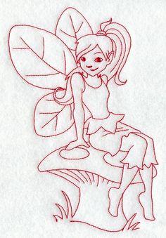 Liliana Pixie (Redwork)