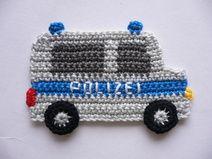 Polizeitransporter - Häkelapplikation