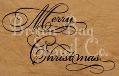 French Stencil  Merry Christmas  10x16   by BrownBagStencilCo