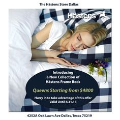 The Hastens Store Dallas just received the new collection of frame beds! Come by & experience the difference a Hastens bed can make for your sleep!