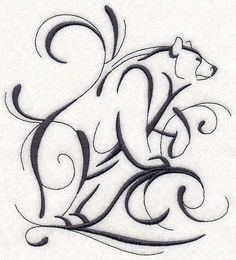 Inky Bear Standing