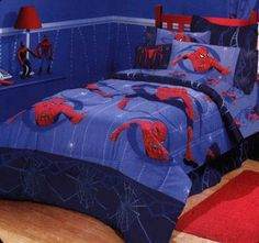 Spider-man Bedroom : Spider-Man 4-piece Twin-size Bed in a Bag with Sheet Set