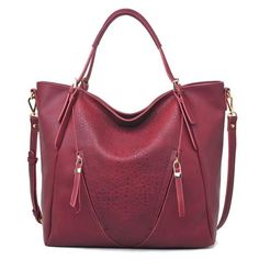 Stitch Fix stylist: omg! I loved the black Jak | Urban Expressions tote that you sent, EXCEPT that I don't like black purses. I really love it in this burgundy color though! :) Thanks, Annie https://www.stitchfix.com/referral/3699596