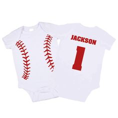 Personalized Baseball Onesie.