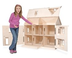 What a fun Mommy~Daughter project to paint and decorate this house together. Then play!! Wooden Barbie House on Wooden Dollhouses The House That Jack Build Wooden Dollhouses