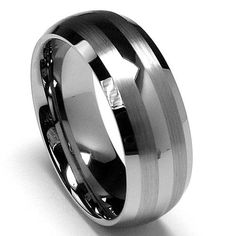 Dome Men's Tungsten Carbide Ring Wedding Band