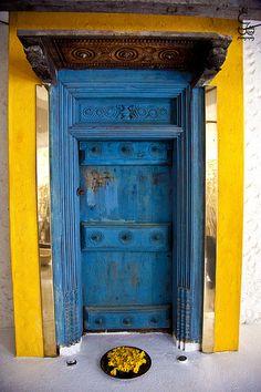 Colors of Bentota, Sri Lanka Entrance Doors, Doorway, Tibet, Sri Lanka Photography, Window Handles, Distressed Painting, Global Design, Distressed Furniture, Old Buildings