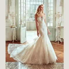 Nicole 2017 Gorgeous Mermaid Wedding Dresses Sweetheart Backless Beaded Lace Appliques Tulle Court Train Bridal Gowns New Silk Mermaid Wedding Dresses Best Mermaid Wedding Dresses From Dmronline, $142.52| Dhgate.Com