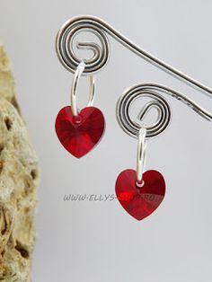 Ellys Shop: Cercei argint si swarovski inimi Swarovski, Drop Earrings, Jewelry, Jewlery, Jewels, Jewerly, Jewelery, Chandelier Earrings, Accessories