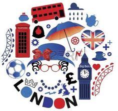 Pattern with London symbols photo