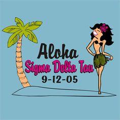 #Aloha #Greek Shirt #SigmaDeltaTau #SigDelt #SDT #SpringBreak #Screenprinted