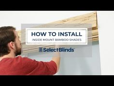 How to Install Inside Mount Bamboo Shades