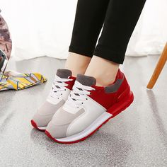 Fashion women's elevator shoes quality cow leather shoes height increasing casual footwear elevator Boats for women zapatillas