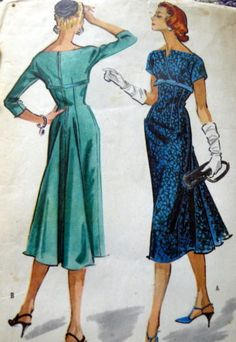 McCall 3913  LOVELY VTG 1950s DRESS McCALLS Sewing Pattern 16/36 in Collectibles, Sewing (1930-Now), Patterns, Women | eBay