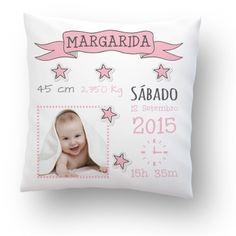 Almofada Personalizada Bebé c/ Foto Cor-de-Rosa