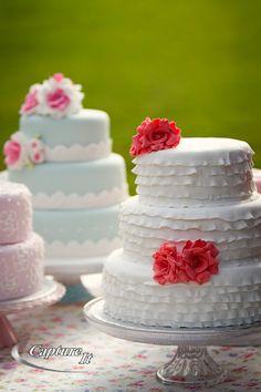 white-3 layer-cake-red rose topping
