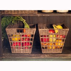 Beautiful Wicker Pantry Baskets | The Basket Lady