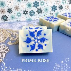 Intricate snowflake design for your winter-themed handcrafted soaps!