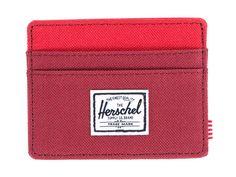 Herschel Supply Co. 'Charlie' Burgundy & Red Card Wallet   Pure Luxuries