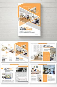High-end style decoration decorative Brochure Graphic Design Brochure, Brochure Layout, Corporate Brochure, Graphic Design Posters, Magazine Ideas, Magazine Design, Layout Template, Brochure Template, Page Layout Design
