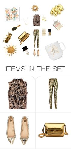 """Gold"" by teendelta ❤ liked on Polyvore featuring art"