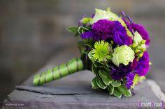 Purple & lime wedding bouquet