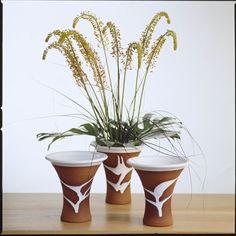 Classic range vases. Stephen Pearce Pottery. Pottery Shop, Handmade Pottery, Irish Pottery, Earthenware, Vases, Beautiful Flowers, Special Occasion, Planter Pots, Range