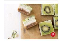 Vegan Ginger Kiwi Cheesecake Bars #Food #Drink #Musely #Tip