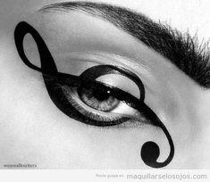 dibujo-clave-sol-musica-maquillaje-ojos.jpg (500×434)