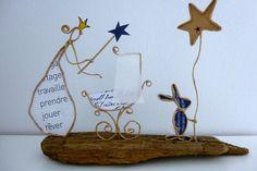 La bonne fée - figurines en ficelle et papier