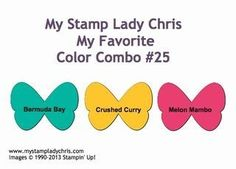 Stampin' Up Color Combo: Bermuda Bay, Crushed Curry, Melon Mambo ...