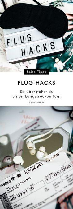 Flug Hacks: 10 praktische Tipps: So überstehst du einen Langstreckenflug!
