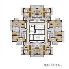 Espada İzmir - Kat Planları Family House Plans, Small House Plans, House Floor Plans, Architecture Plan, Residential Architecture, Commercial Building Plans, Residential Building Plan, Flat Plan, Architectural Floor Plans